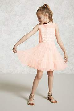 Forever 21 Girls Tulle Combo Dress (Kids)