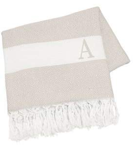 Cathy's Concepts Monogrammed Initial Turkish Throw Blanket