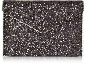 Rebecca Minkoff Glitter Leo Envelope Clutch - BLACK - STYLE