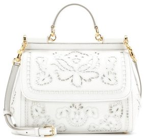 Dolce & Gabbana Sicily Medium embroidered leather tote