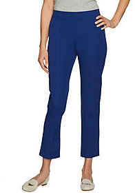 C. Wonder As Is Str. Twill Pull -on Ankle Pants w/Seam Detail