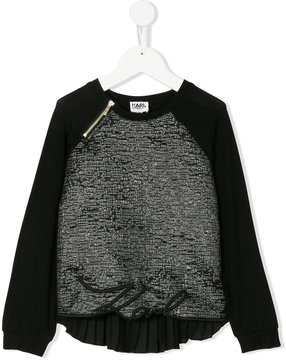 Karl Lagerfeld pleated back metallic blouse
