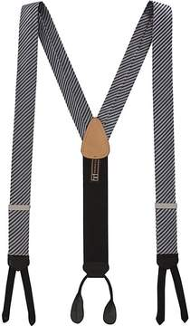 Trafalgar Men's Formal Diagonal II Striped Silk Suspenders