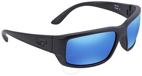 Costa del Mar Fantail Blue Mirror Glass Rectangular Sunglasses TF 01 OBMGLP