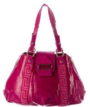 Versace Coated Canvas Shoulder Bag