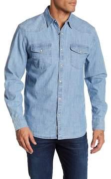 Lucky Brand Chambray Long Sleeve Regular Fit Shirt