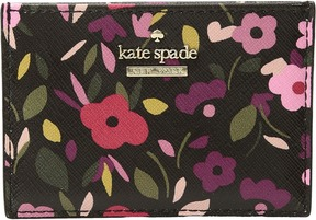 Kate Spade Cameron Street Boho Floral Card Holder Wallet - BLACK MULTI - STYLE