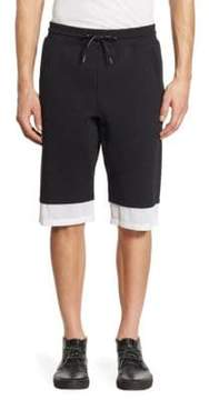 Saks Fifth Avenue x Anthony Davis Mesh Trimmed Fleece Shorts