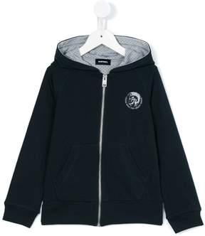 Diesel logo patch hooded sweatshirt