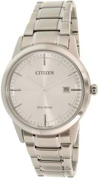 Citizen Men's Eco-Drive AW1231-58A Silver Stainless-Steel Eco-Drive Dress Watch