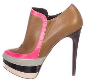 Ruthie Davis Leather Platform Booties