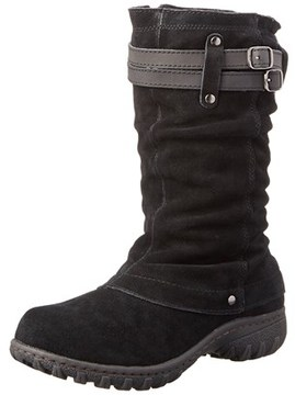 Khombu Womens Mallory Leather Closed Toe Mid-calf Cold Weather Boots.