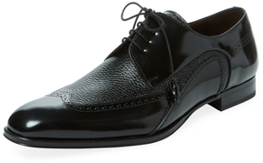 Mezlan Men's Leather Wingtip Derby Shoe