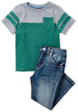 7 For All Mankind Toddler Boys) Two-Piece T-Shirt & Jeans Set