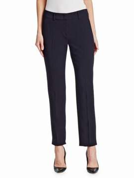 Emporio Armani Stretch Crepe Wool Pants