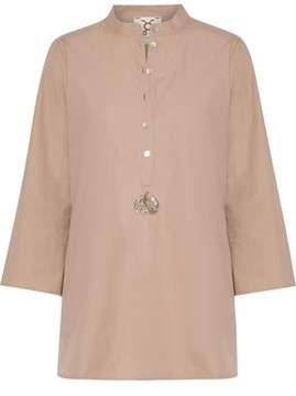 Figue Lisa Sequin-Embellished Cotton-Poplin Tunic