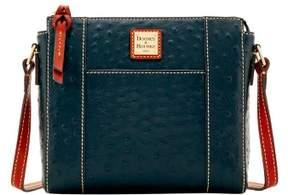 Dooney & Bourke Ostrich Lexington Crossbody Shoulder Bag - BLACK - STYLE