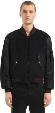 Antonio Marras Cotton Velvet & Nylon Bomber Jacket