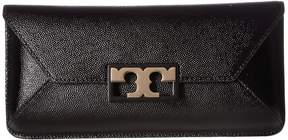 Tory Burch Gigi Patent Clutch Clutch Handbags - BLACK - STYLE