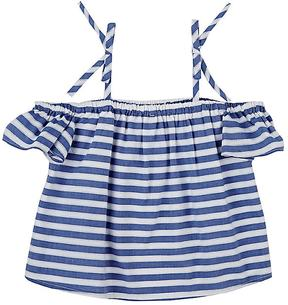 Milly STRIPED COTTON OFF-THE-SHOULDER TOP