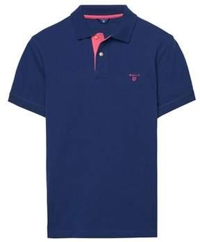 Gant Men's Blue Cotton Polo Shirt.