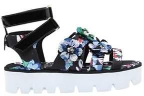 MSGM Women's Floral Lug Sole Sandal.