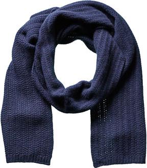 Portolano Men's Dark Blue Cashmere Scarf