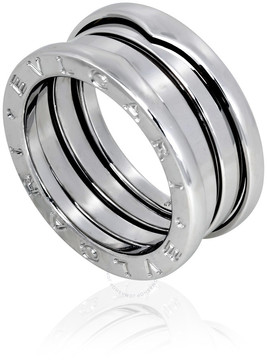 Bvlgari B.Zero1 18K White Gold 3-Band Ring Size 5.75