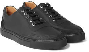 Harry's of London Mr. Jones 2 Suede-Panelled Matte-Leather Sneakers