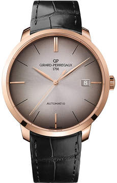 Girard Perregaux GIRARD-PERREGAUX 49551-52-231-BB60 1966 alligator-leather and 18ct rose-gold watch