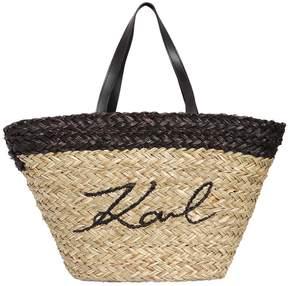 Karl Lagerfeld Straw Bag