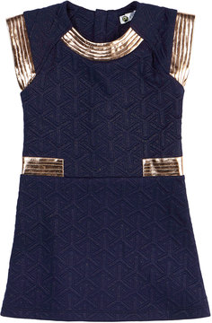 Petit Lem Quilted Knit Dress, Size 2-6X