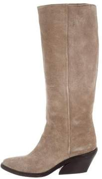 Givenchy Suede Mid-Calf Boots