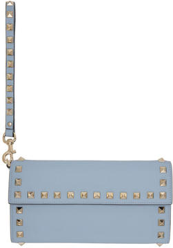 Valentino Blue Garavani Rockstud Flap Wallet