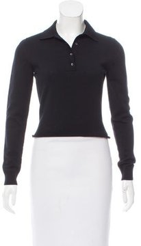 Alaia Wool Pointed Collar Top