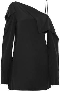 Dion Lee Axis One-Shoulder Silk Mini Dress