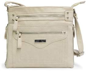 Adrienne Vittadini Zip Top Crossbody With Expandable Side Zippers