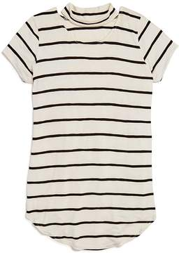 Aqua Girls' Striped Choker Tee, Big Kid - 100% Exclusive