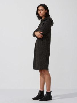 Frank and Oak Heavy-Fleece Hoodie-Dress in Carbon Heather