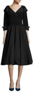 Eliza J Elbow Sleeve Cross Front Dress