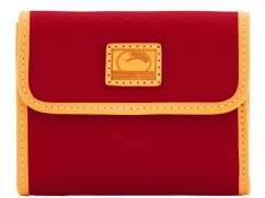 Dooney & Bourke Patterson Leather Small Flap Credit Card Wallet - WINE - STYLE