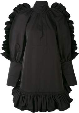 Ellery ruffle hem mini dress