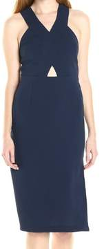 BCBGeneration Womens Cut-Out Zipper Casual Dress
