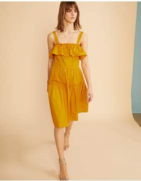 Cynthia Rowley | Saffron Wallflower Ruffle Dress | Xl | Denim