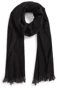 John Varvatos Men's Stripe Dyed Cashmere Scarf