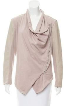 Blank NYC Asymmetrical Knit-Blend Jacket