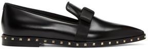 Valentino Black Garavani Soul Stud Bow Loafers
