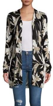 Context Tropical Silhouette Open Cardigan