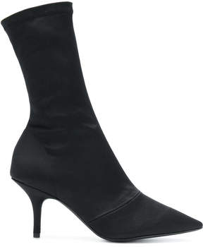 Yeezy Black Satin Ankle Boots