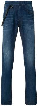 Emporio Armani slim-fit roll up jeans
